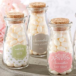 Personalized Milk Jar - Kates Rustic Baby Shower Collection (Set of 12)