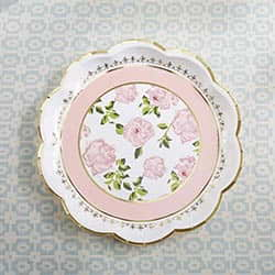Tea Time Whimsy Paper Plates - Pink