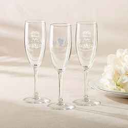 Personalized Champagne Flute - English Garden