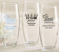 Personalized 9 oz. Stemless Champagne Glass - Little Prince
